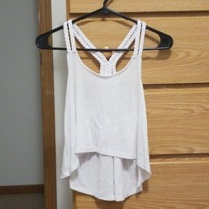 High low tank top EUC with braided straps